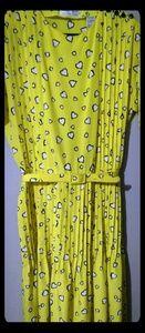 VTG ALBERT NIPON Executive Dress Yellow Hearts 14